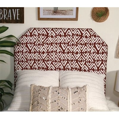 Hough Beveled Twin/Twin XL Upholstered Panel Headboard Upholstery: Red