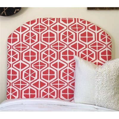 Houchens Arched Twin/Twin XL Upholstered Panel Headboard Upholstery: Coral