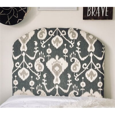 Heathcote Arched Twin/Twin XL Upholstered Panel Headboard Upholstery: Pewter
