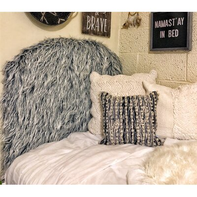 Hosler Mongolian Fur Arched Twin/Twin XL Upholstered Panel Headboard Upholstery: Gray Frost