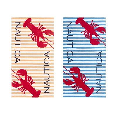 Twin Lobster 2 Piece Beach Towel Set