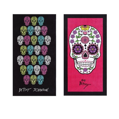 Skull Fiesta/Garden Skull 2 Piece Beach Towel Set