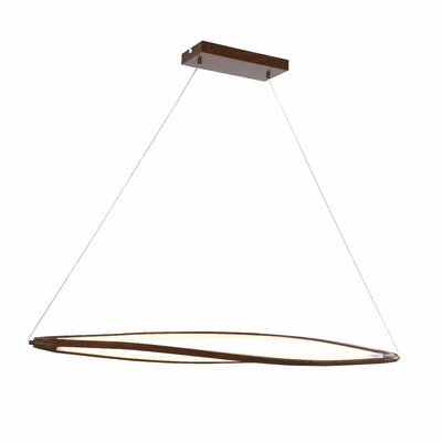 Twist 3-Light Kitchen Island Pendant Finish: Brown