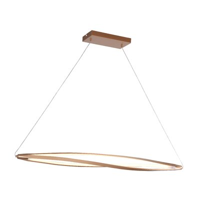 Twist 3-Light Kitchen Island Pendant Finish: Gold
