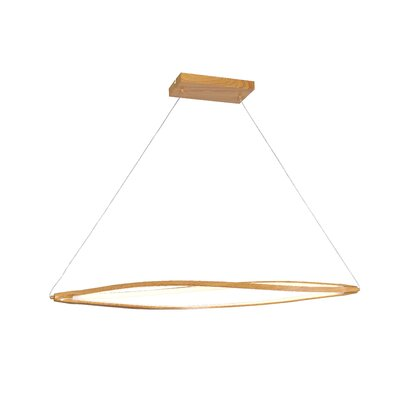 Twist 3-Light Kitchen Island Pendant Finish: Light Wood
