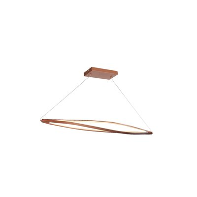 Twist 3-Light Kitchen Island Pendant Finish: Copper