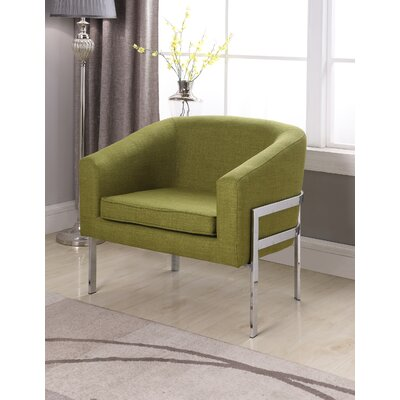 Winsor Barrel Chair Upholstery: Green
