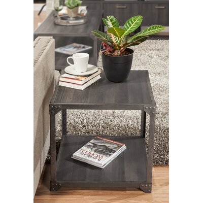 Hedden Loft End Table Color: Charred Oak