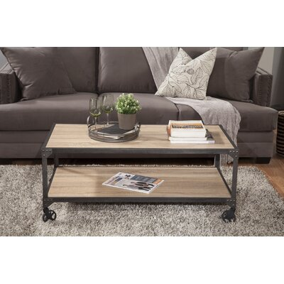 Hedden Loft Coffee Table Color	: White Oak