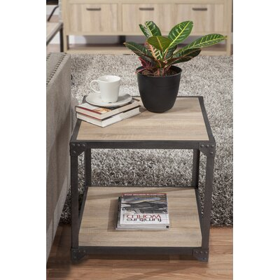 Hedden Loft End Table Color: White Oak