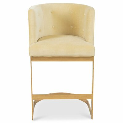 Ibiza 36.5 Bar Stool Upholstery: Hollandaise