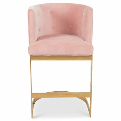Ibiza 36.5 Bar Stool Upholstery: Blush Pink