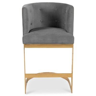 Ibiza 36.5 Bar Stool Upholstery: Dark Gray