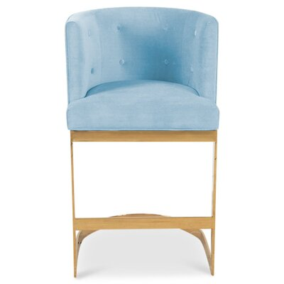 Ibiza 30 Bar Stool Upholstery: Capri Blue