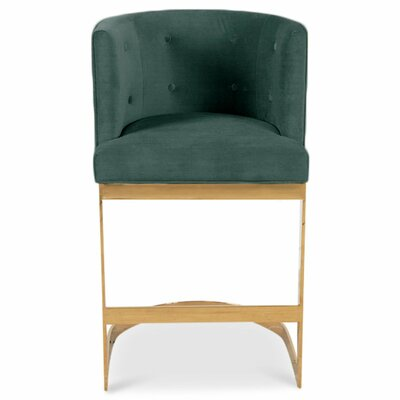 Ibiza 36.5 Bar Stool Upholstery: Hunter Green
