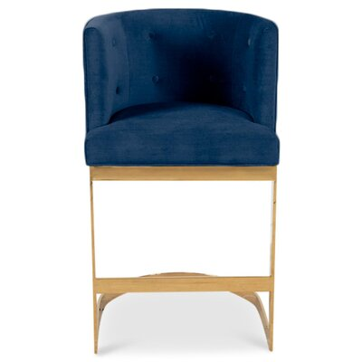 Ibiza 30 Bar Stool Upholstery: Indigo Blue