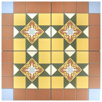 Chelsea Derby 9.75 x 9.75 Porcelain Field Tile in Brown