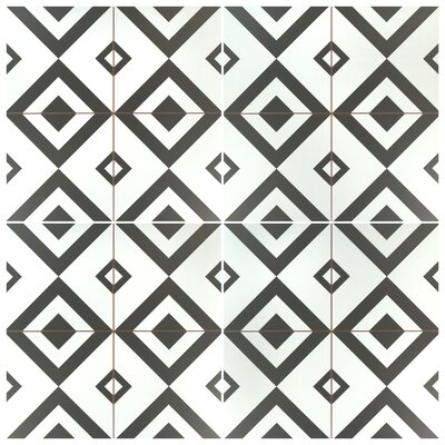 Charing 17.63 x 17.63 Ceramic Field Tile in Black/White