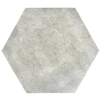 Victoria Ferro Hexagon 14.13 x 16.25 Porcelain Field Tile in Bianco