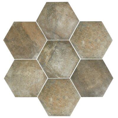 Victoria Ferro 14.13 x 16.25 Porcelain Field Tile in Greige