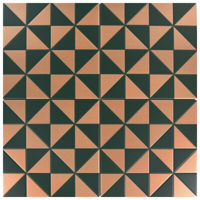 Chelsea 9.75 x 9.75 Porcelain Field Tile in Green and Beige