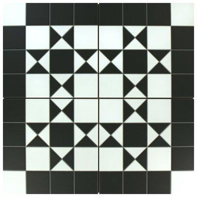 Chelsea Bristol 9.75 x 9.75 Porcelain Field Tile in Black