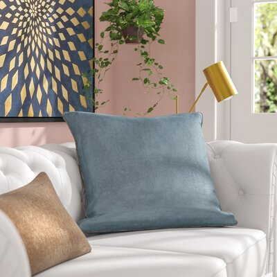 Audington Solid Flannel Pillow Cover Color: Light Blue