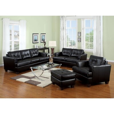 Mccrae 4 Piece Living Room Set Color: Black