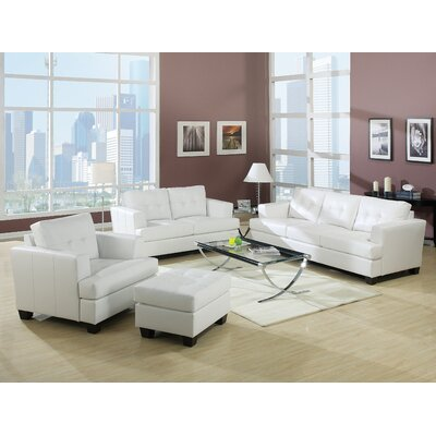 Mccrae 4 Piece Living Room Set Color: White