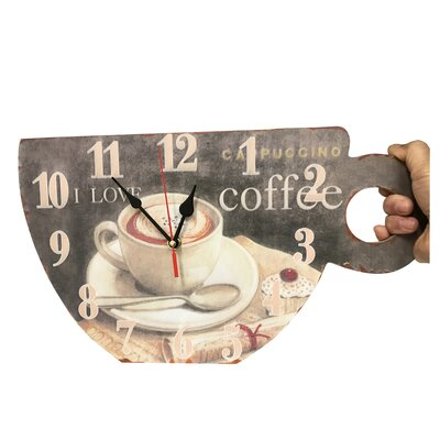 I Love Coffee Cup Tabletop Clock BAA3E2E1C6D5456CBC757464856E3628