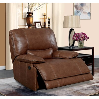 Dupree Leather Recliner Reclining Type: Power