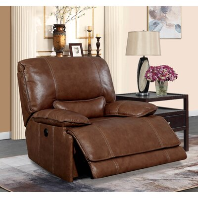 Dupree Leather Recliner Reclining Type: Manual