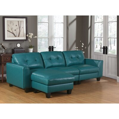 Epstein Leather Reversible Sectional