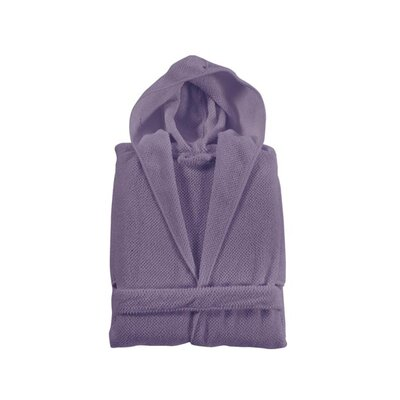 Elysian Hooded Bathrobe Size: Large, Color: Lavender