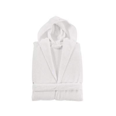 Elysian Hooded Bathrobe Size: Medium, Color: White