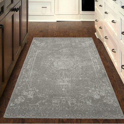 Lapine Neutral Distressed Persian Gray Area Rug Rug Size: Rectangle 5 x 8