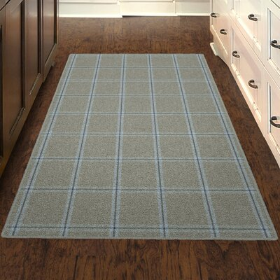 Chretien Simple Neutral Plaid, Traditional Gray Area Rug Rug Size: Rectangle 76 x 10