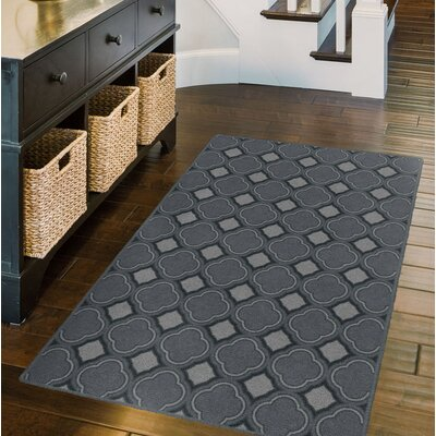 Fitz Trellis, Moroccan Lattice Inspired Dusty Blue Area Rug Rug Size: Rectangle 34 x 5