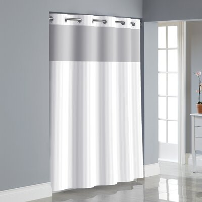 Beale Shower Curtain Color: White