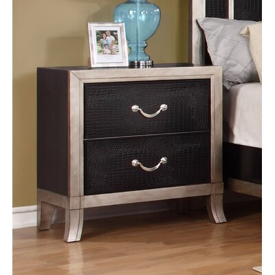 Metoyer 2 Drawer Nightstand