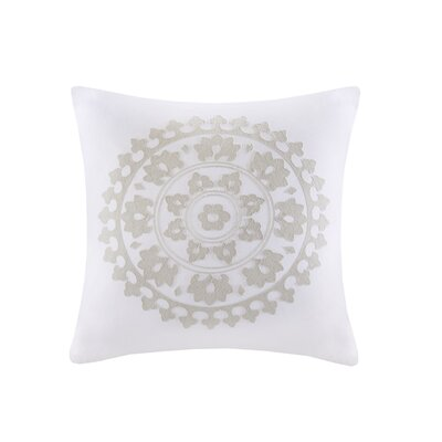 Marco Embroidered Square 100% Cotton Throw Pillow