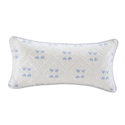 Ravi Embroidered Oblong 100% Cotton Lumbar Pillow