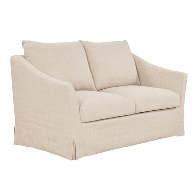 Tomlin Loveseat Upholstery: Flax