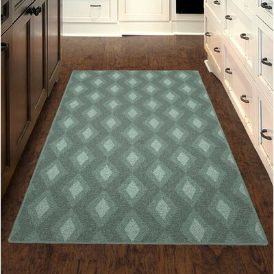 Fitzwater Green Diamonds, Simple Trellis Green Area Rug Rug Size: Rectangle 2'6