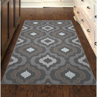 Flatt Modern Moroccan Trellis Gray/Brown Area Rug Rug Size: Rectangle 34 x 5