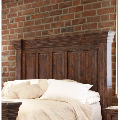 Panel Headboard Size: King, Color: Black