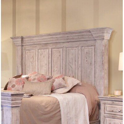 Panel Headboard Size: Queen, Color: White