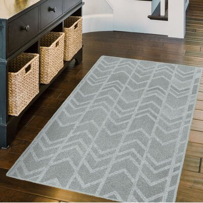 Fortson Arrows Gray Area Rug Rug Size: Rectangle 34 x 5