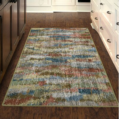Fosse Earthtones, Vintage Abstract Beige Area Rug Rug Size: Rectangle 5 x 8