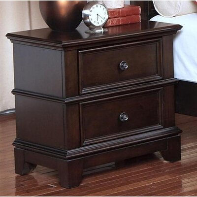 Yip 2 Drawer Nightstand